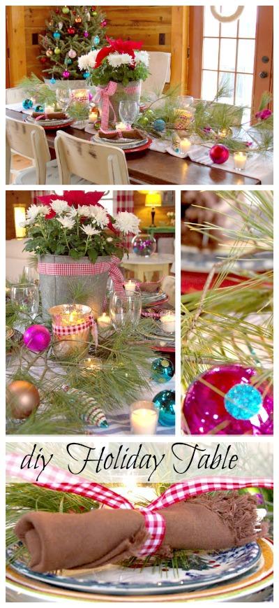 DIY Holiday Table