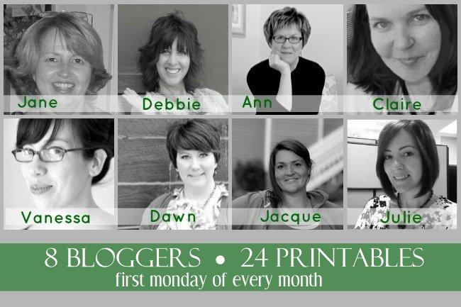 8 Bloggers ~ 24 Printables-001
