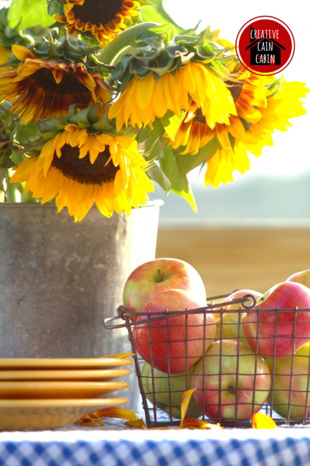 Sunflowers   Apples   Fall Inspiration   CreativeCainCabin.com