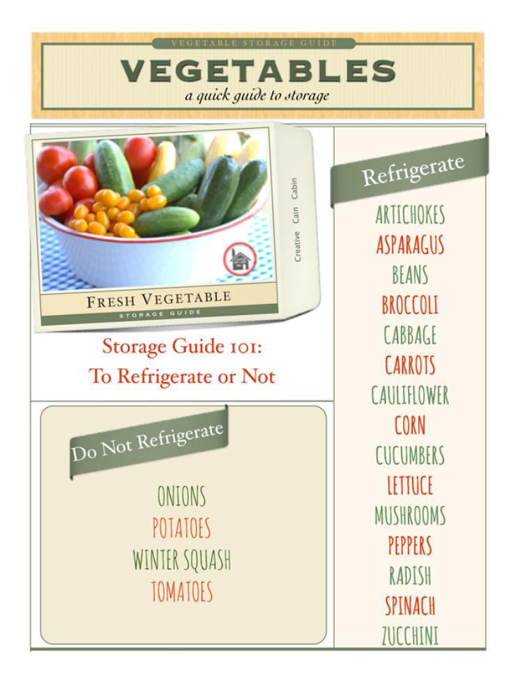VegetableStorageGuide