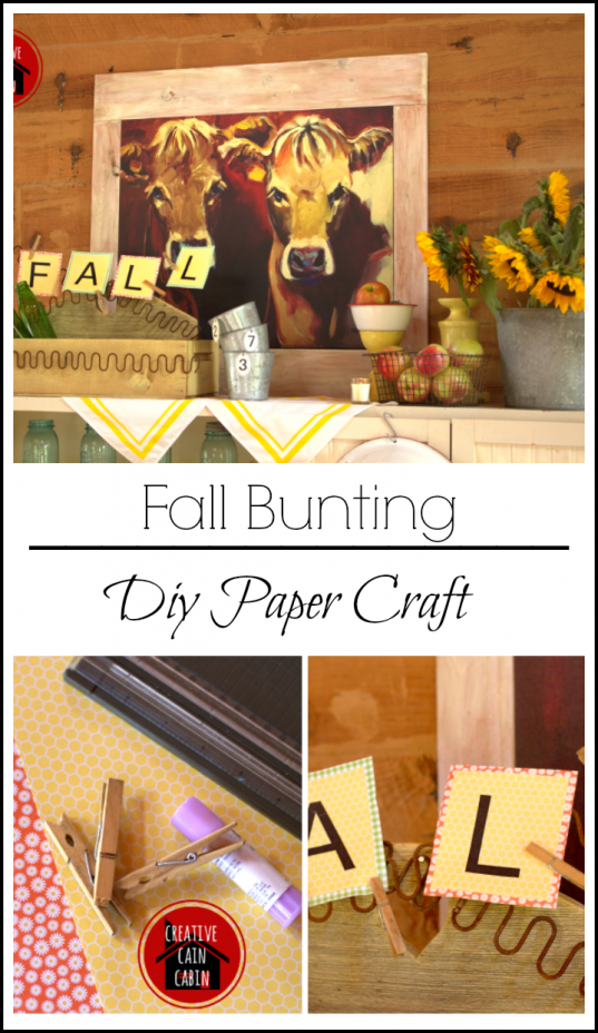 Fall Bunting Paper Craft DIY
