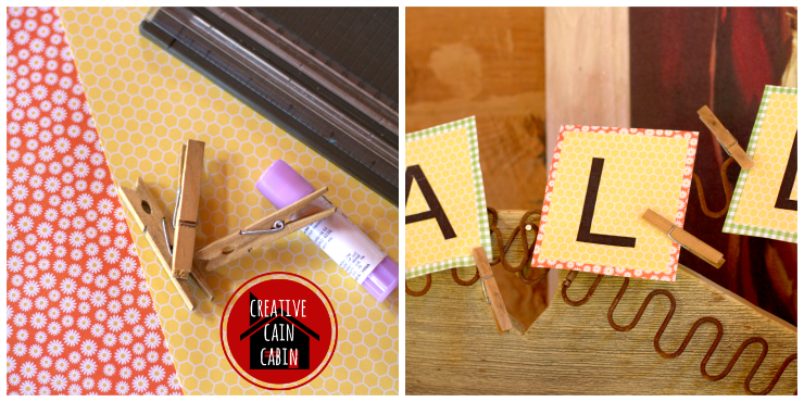 Fall Bunting Paper Craft