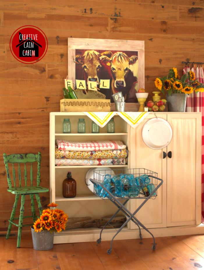 Fall Farmhouse Style Mantel