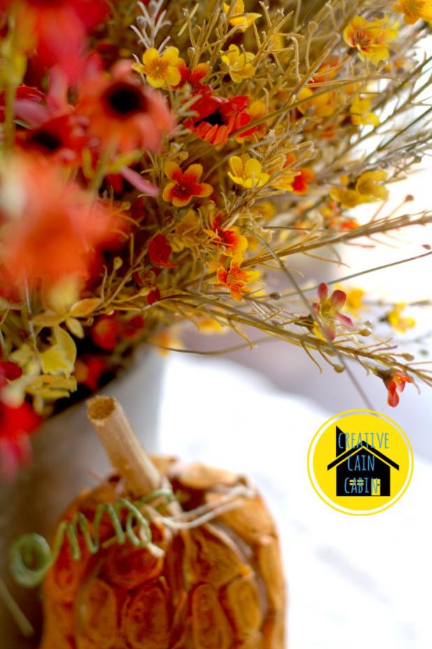 Fall Faux Flower Centerpiece