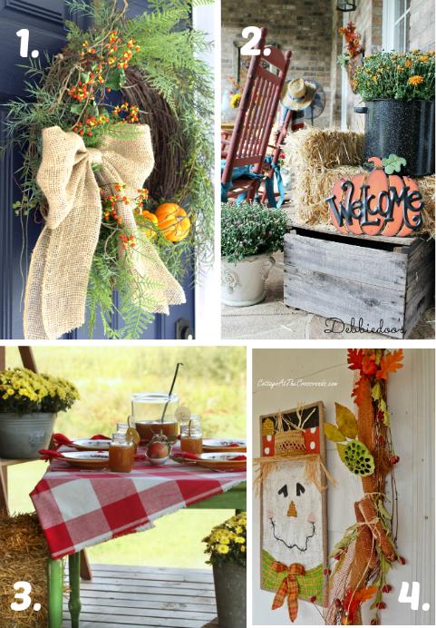 Fall Porch & Door Inspiration