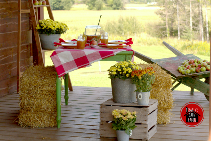 Fall Harvest Party on the Porch