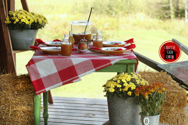 Fall Table on the Porch