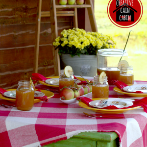 Fall Table with Apples   CreativeCainCabin.com