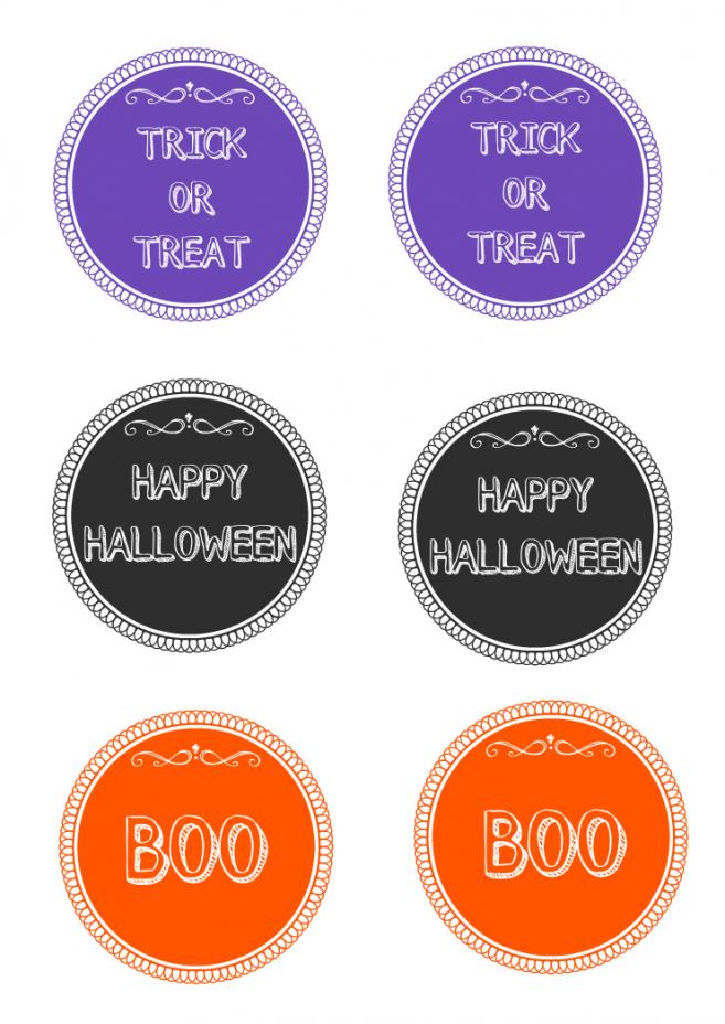 Halloween Treat Bag Tags Printable