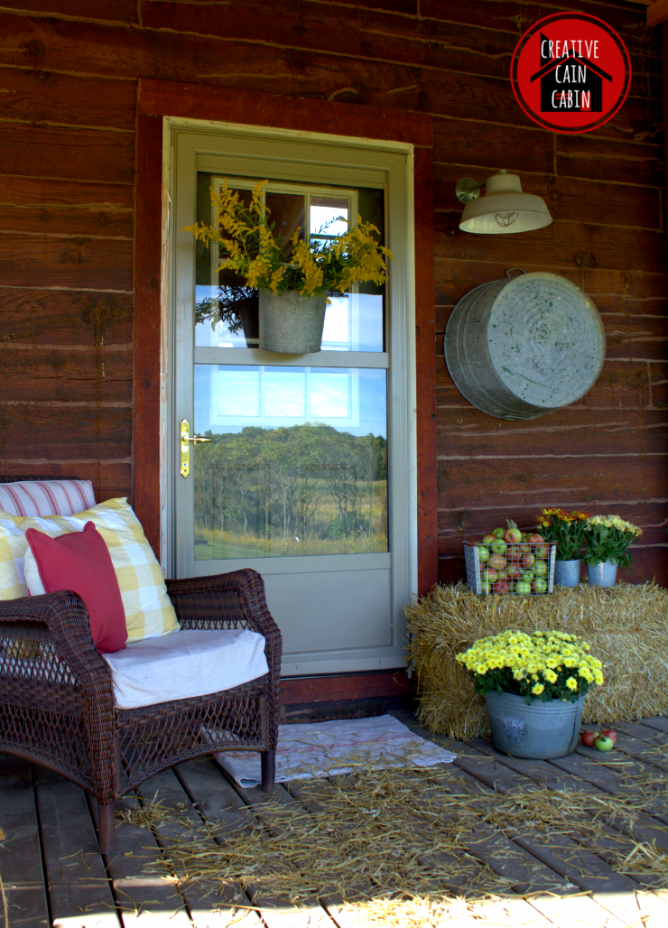 Rustic Porch Decorated for Fall