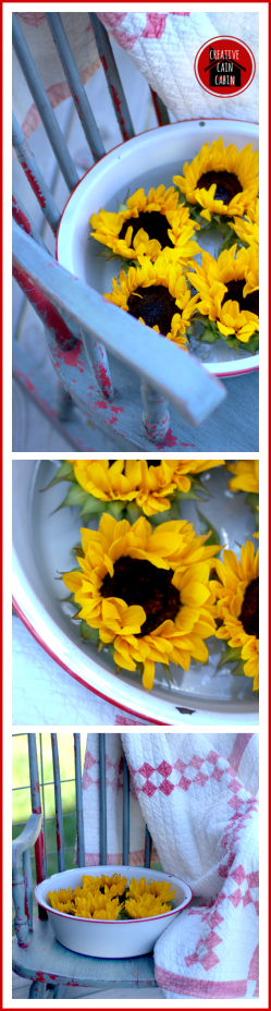 Sunflowers and Enamelware