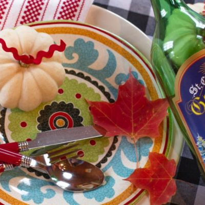 $1 Fall Table Setting