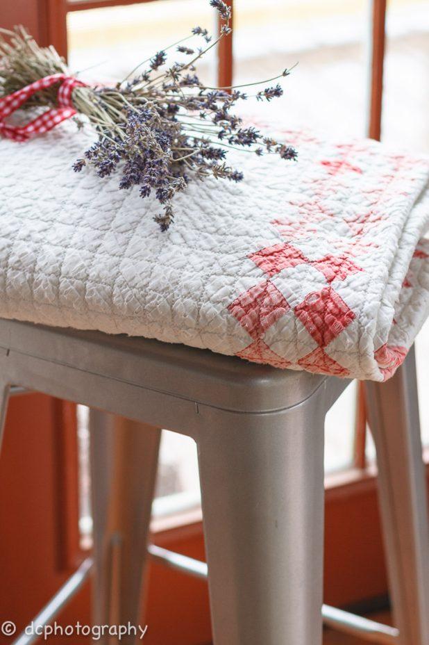 Lavender and a Vintag Quilt