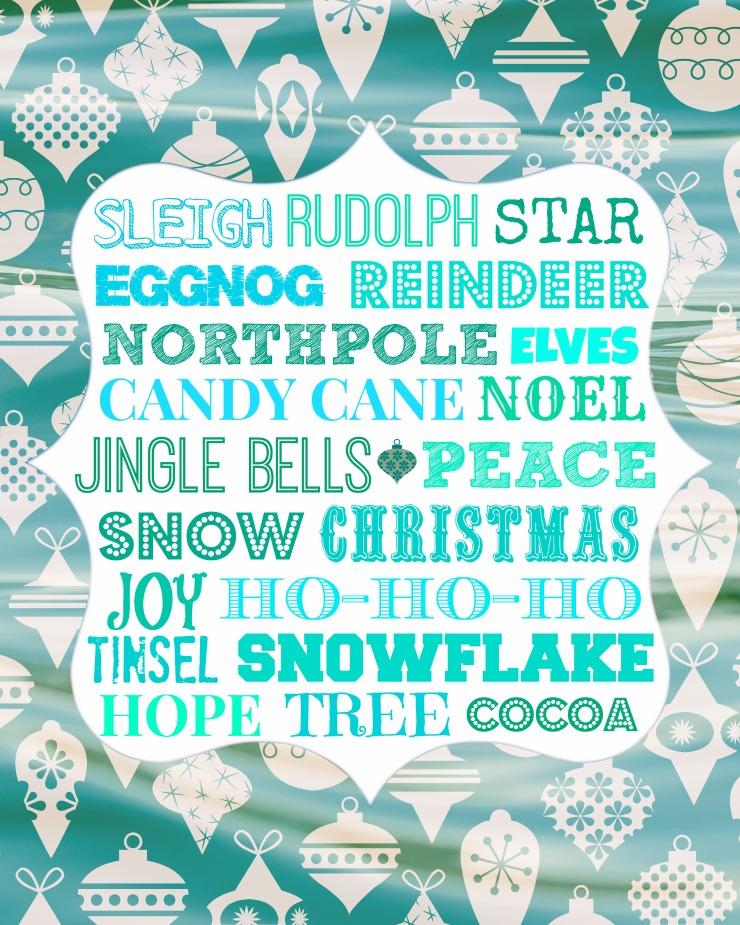 Christmas Subway Art Printable