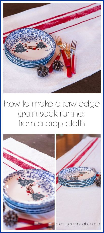 Faux Grain Sack Runner