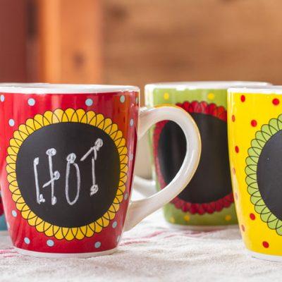 FREE Chalkboard Mugs