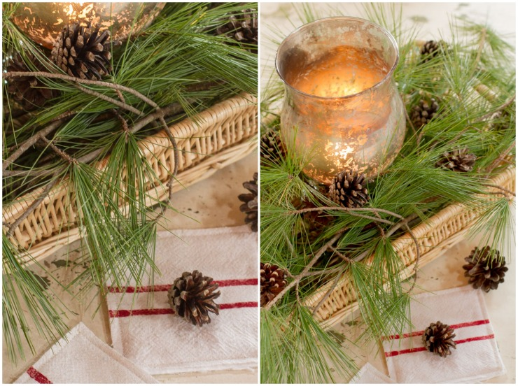 Deck The Halls With Natural Element Christmas Vignette Creative Cain