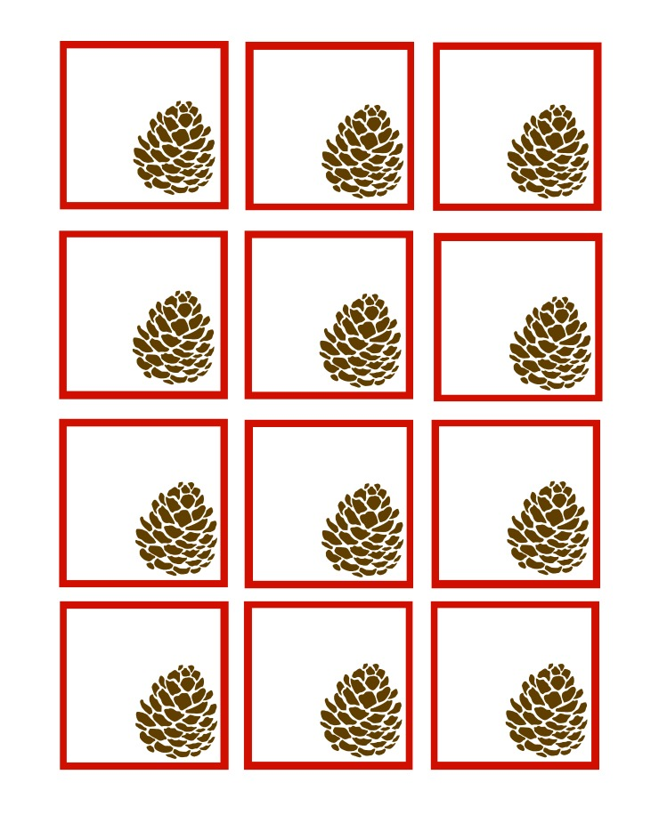 Pinecone Gift Tag