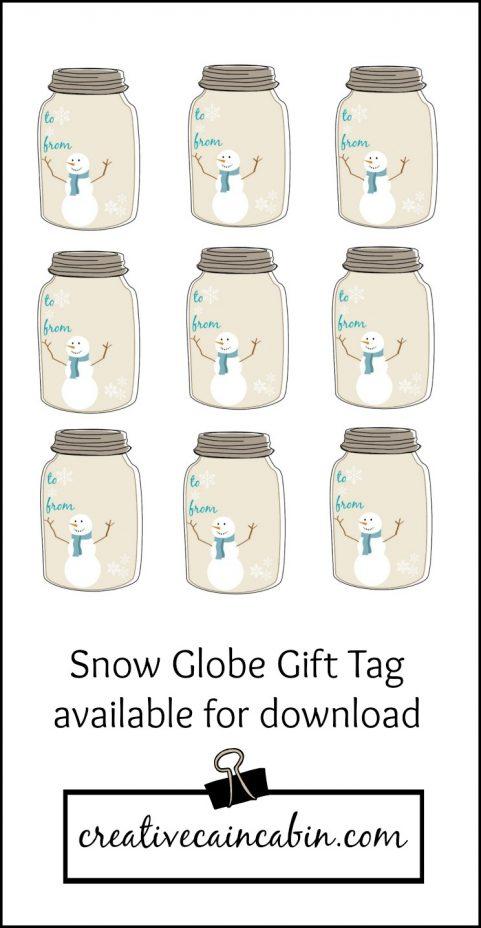 Snow Globe Gift Tag