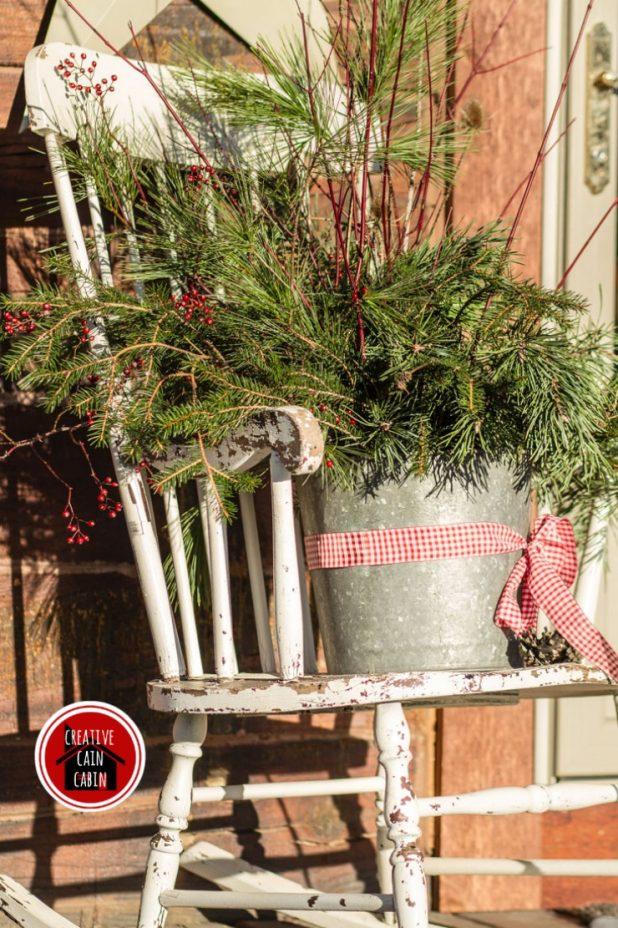 Winter Pine Branch Bouquet