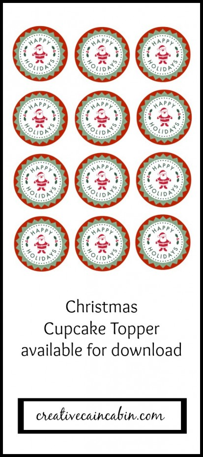 Christmas Cupcake Topper