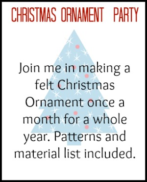 Christmas Ornament Party Button