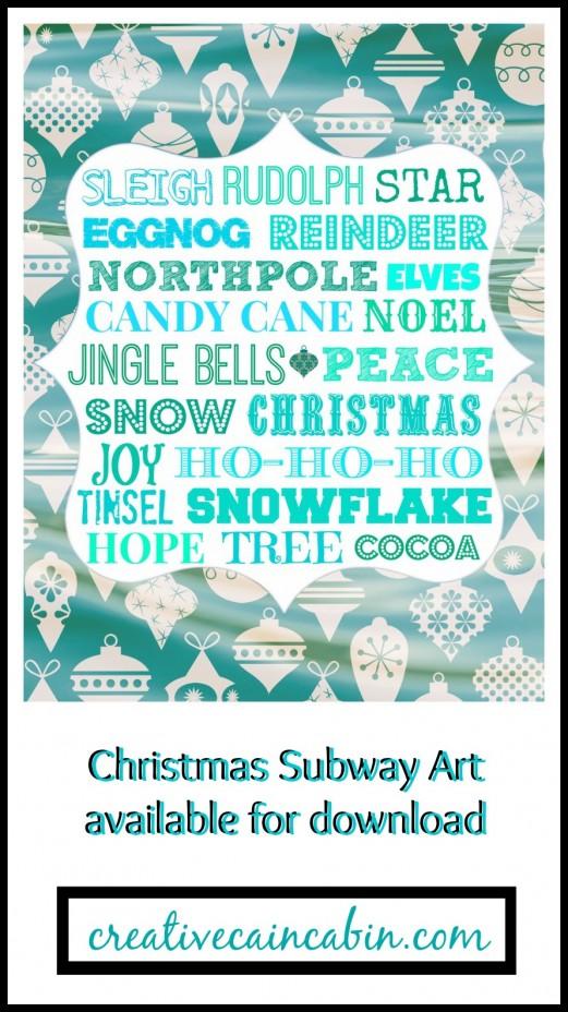 Christmas Subway Art