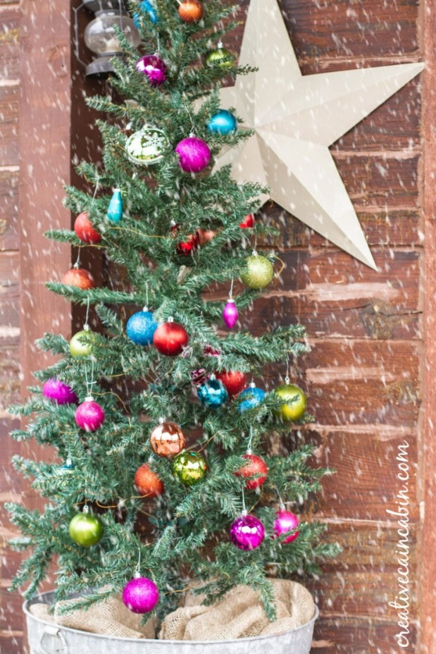 Jewel Tone Christmas Porch - Creative Cain Cabin