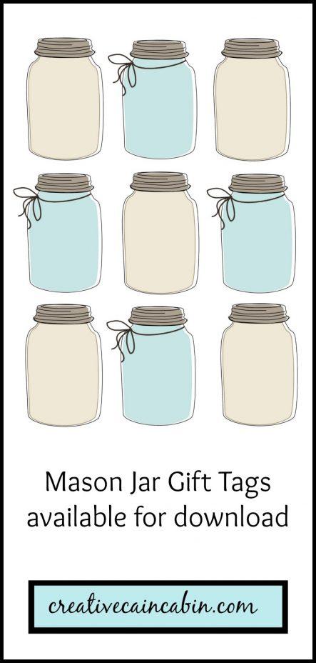 Mason Jar Gift Tag Printable