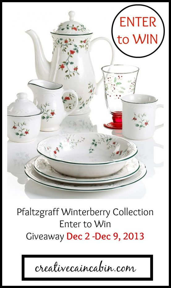 Pfaltzgraff Winterberry Collection Giveaway