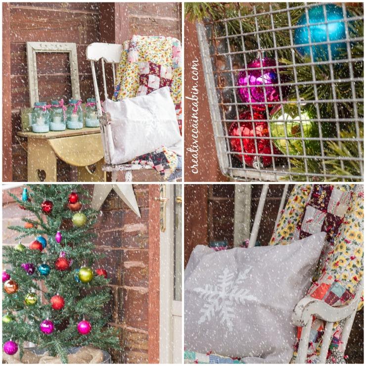 Winter Porch in Jewel Tones