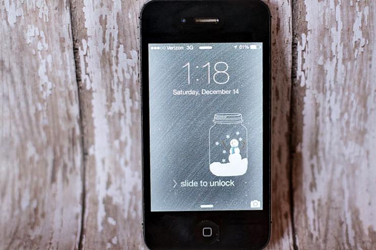 snow globe phone wallpaper