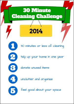 30 minute cleaning challenge 300X422