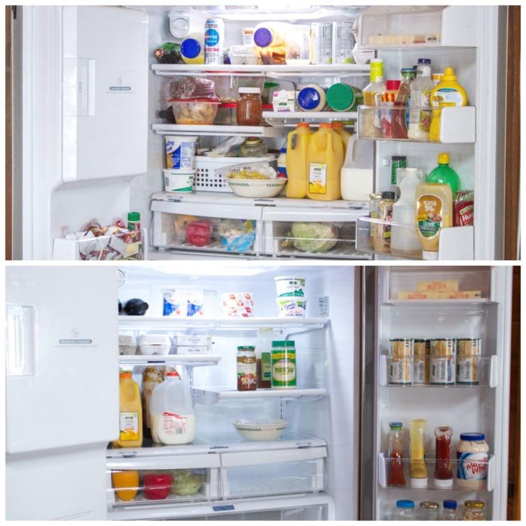 Clean Organized Refrigerator