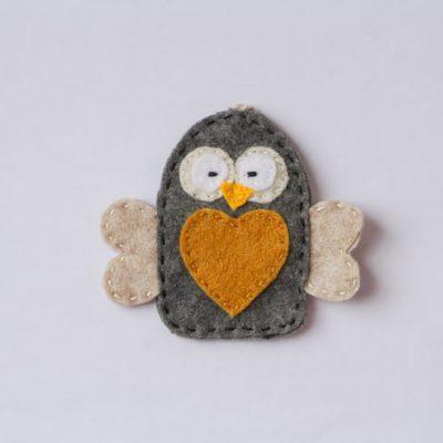 January Felt Ornament Patterns (Owl & Bear)