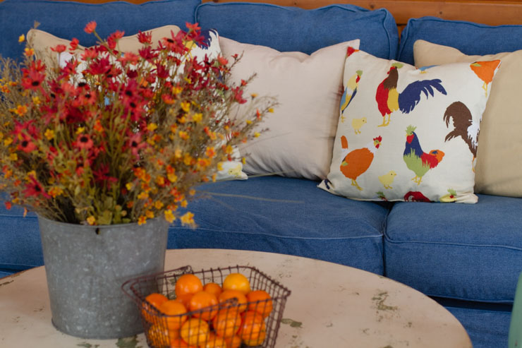 JCPenney Denim Slipcovered Sofa