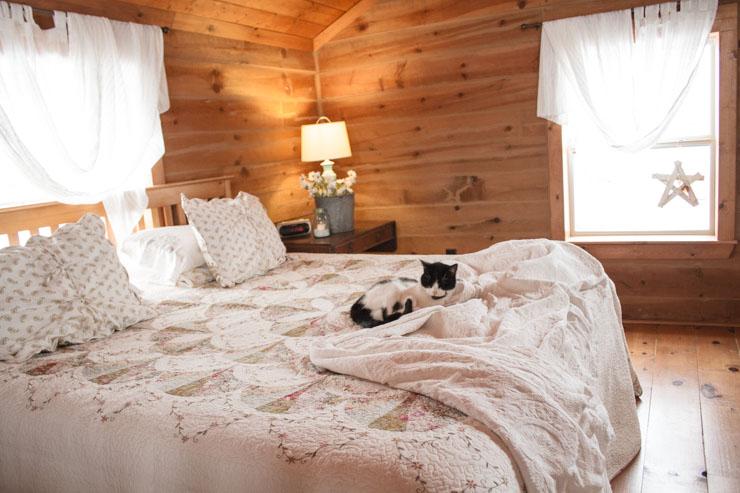 Loft Bedroom in a Log Home