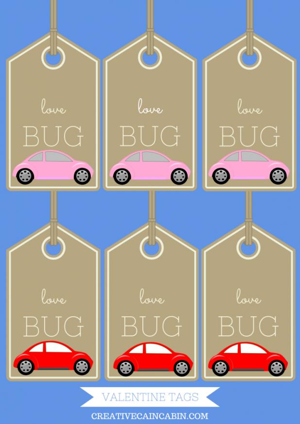 Valentine Love Bug Printable Tags