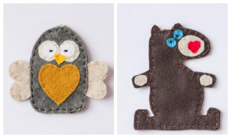 Owl & Bear Felt Patterns
