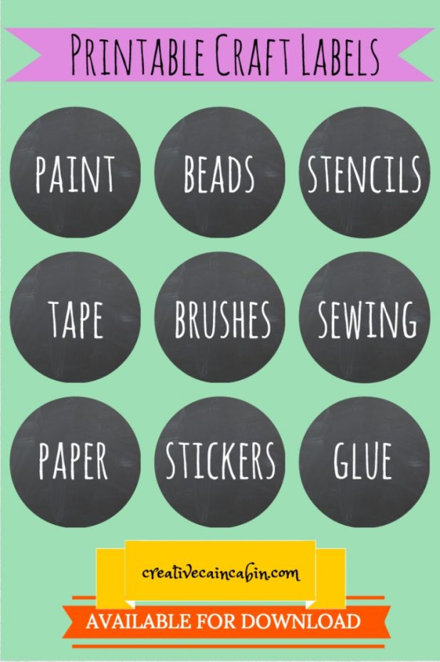 Printable Craft Labels