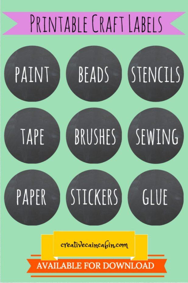 Printable Craft Labels