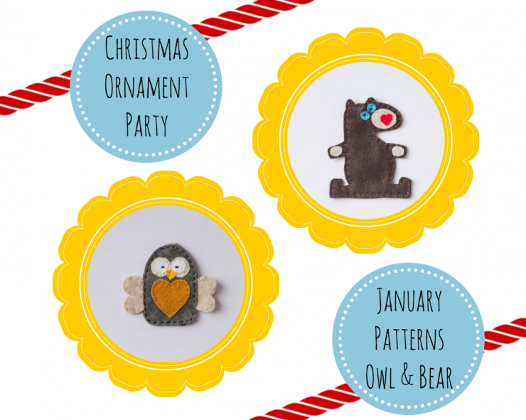 January Felt Christmas Ornaments