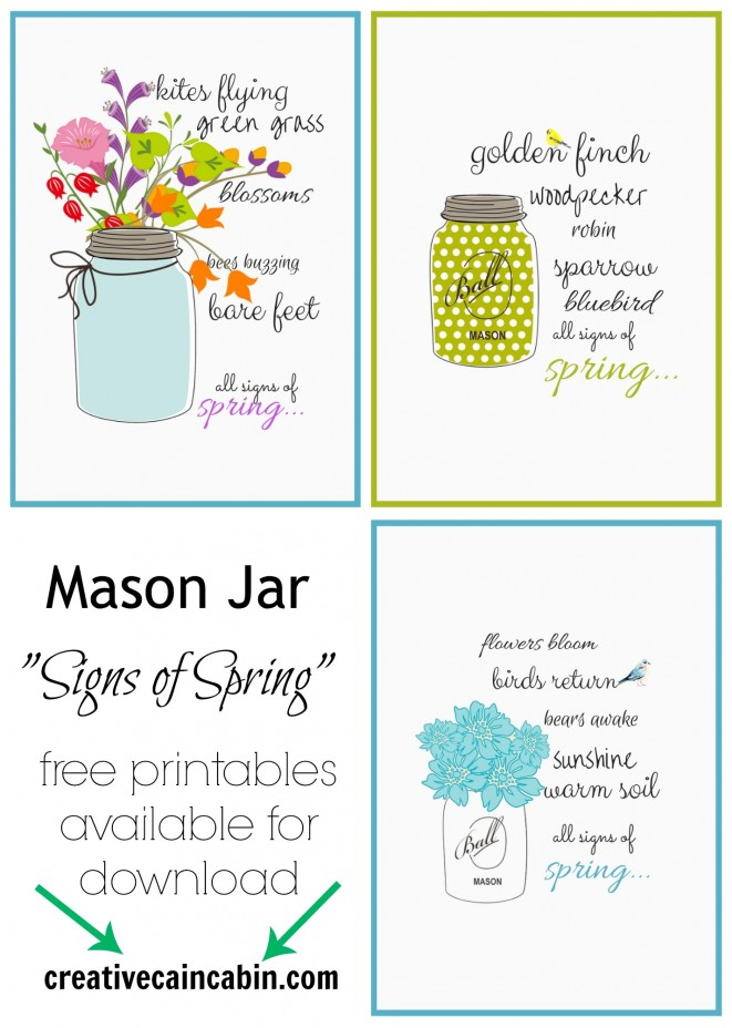 """Signs of Spring"" FREE Printables"