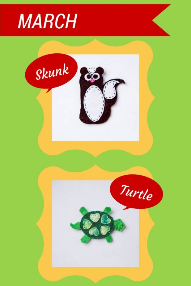 Skunk and Turtle Felt Patterns