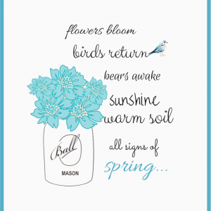 """""""Signs of Spring"""" FREE Printable"""