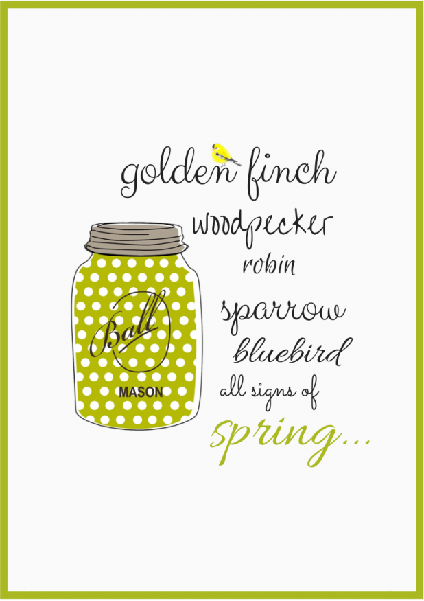 """Signs of Spring"" FREE Printable"