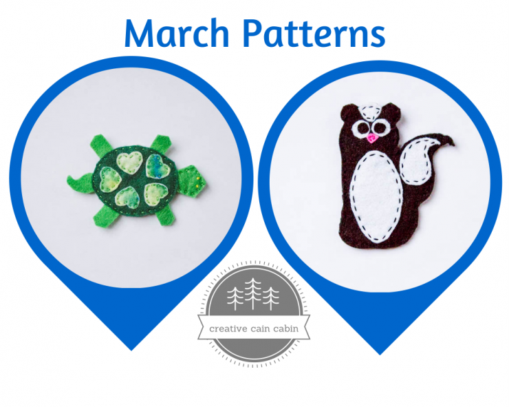 March Felt Patterns