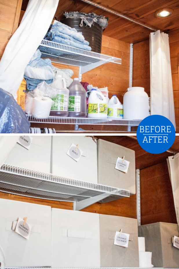 Laundry Room Before and After Organization