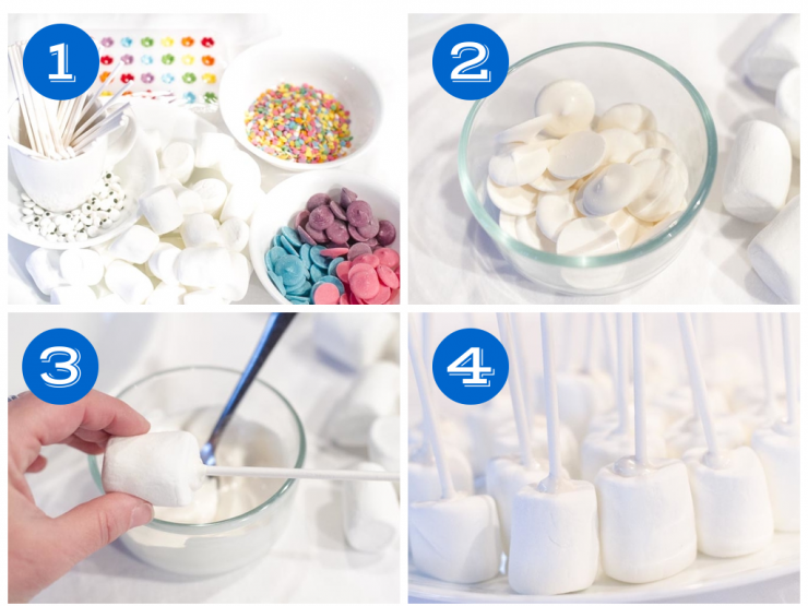 Marshmallow Pops Step 1-4