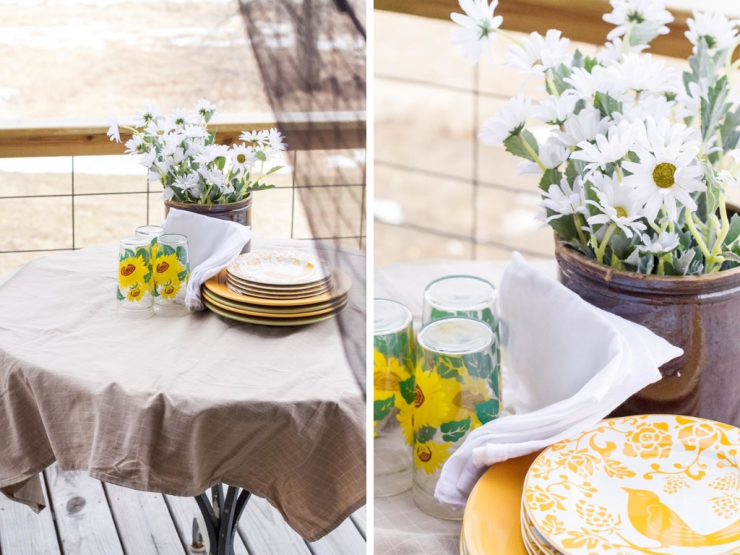 Outside Table Setting